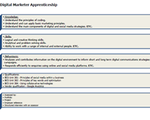 Digital Marketing Apprenticeship Standard