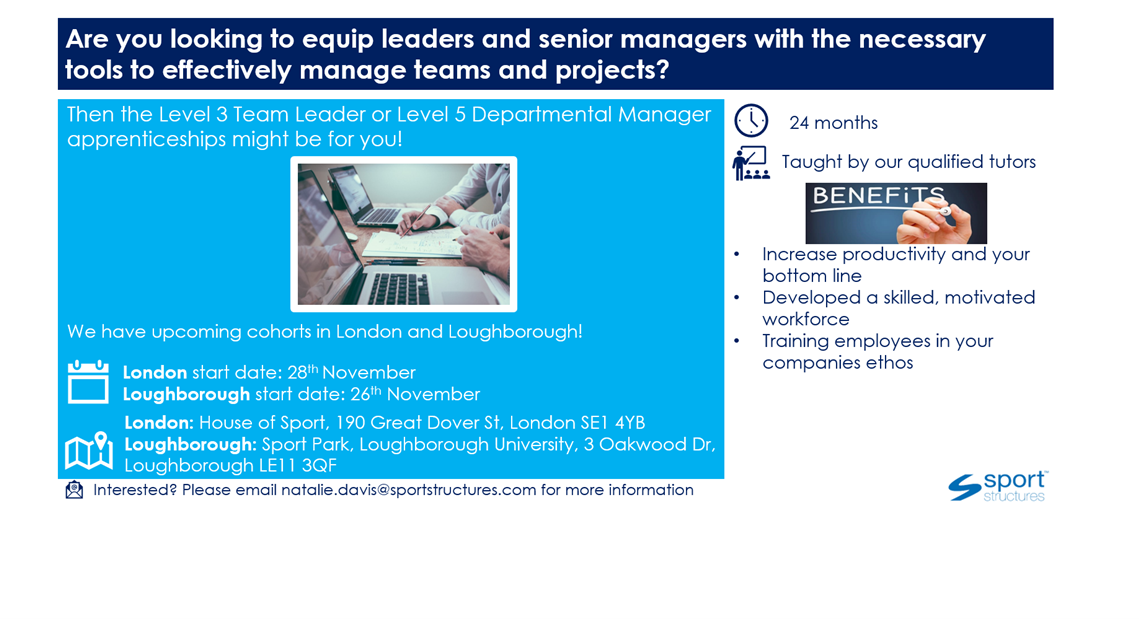 Leadership and Management Opportunity!